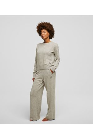 Karl Lagerfeld Women Wide Leg Pants - CASHMERE WIDE-LEG PANTS