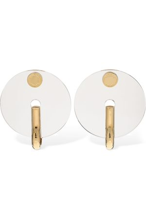 Burberry Big Key Disc Plexi Earrings