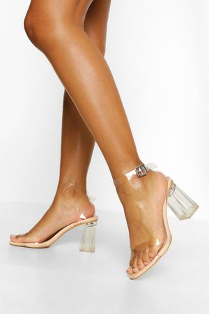 Boohoo Womens Clear Two Part Heels - - 5