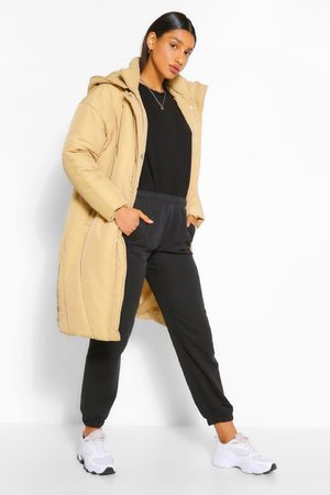 Boohoo Womens Longline Hooded Puffer Jacket - - 4