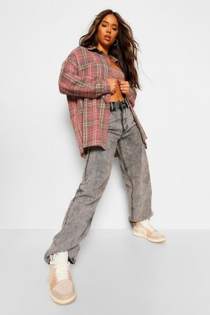 Boohoo Womens Oversized Flanneled Shirt - - 4