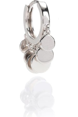 JACQUIE AICHE Mini Disco Shaker Hoop 14kt white single earring