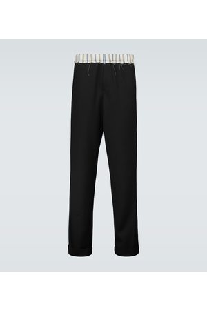 WALES BONNER Straight-fit virgin wool pants
