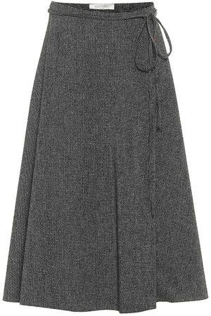 VALENTINO Wool crêpe midi skirt