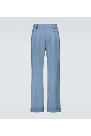 Casablanca Wool pleated straight-fit pants