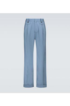 Casablanca Wool pleated straight-fit pants