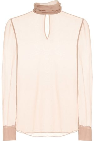 VALENTINO Silk turtleneck top