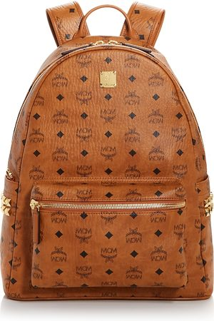 MCM Stark Logo Monogram Backpack
