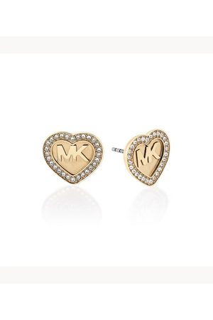 Michael Kors Women's Logo -Tone And Pavé Stud Earrings