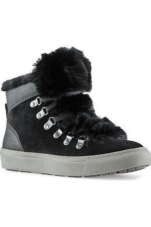 Cougar Women's Lace Up Faux Fur Trimmed Sneakers