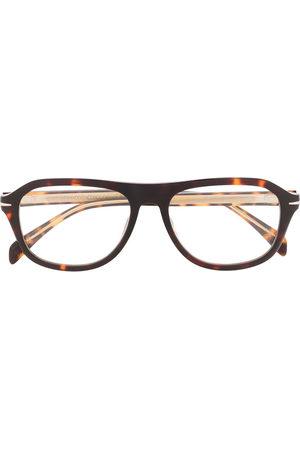DB EYEWEAR BY DAVID BECKHAM Tortoiseshell rounded frame glasses