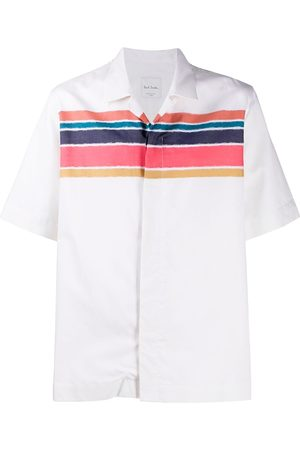 Paul Smith Short sleeve stripe print shirt - Neutrals