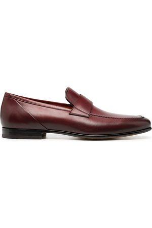 santoni Men Loafers - Slip-on leather loafers