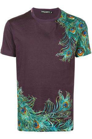 Dolce & Gabbana Peacock-print cotton T-shirt