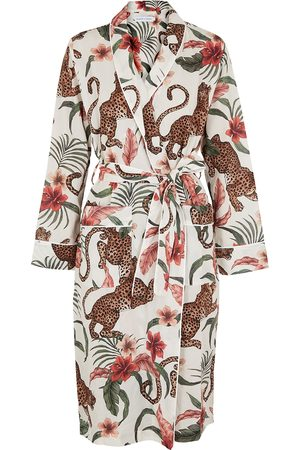 Desmond & Dempsey Women Bathrobes - Soleia printed cotton robe