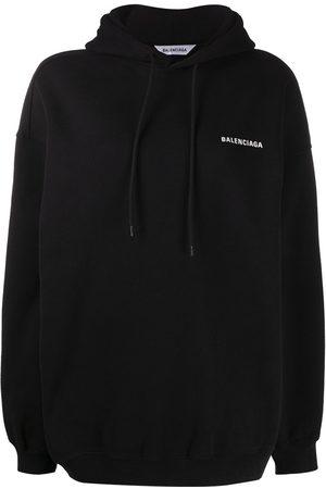 Balenciaga Slogan-print oversized hoodie