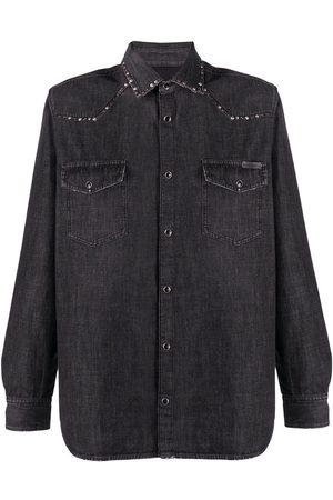 Golden Goose Men Denim - Stud detail denim shirt - Grey
