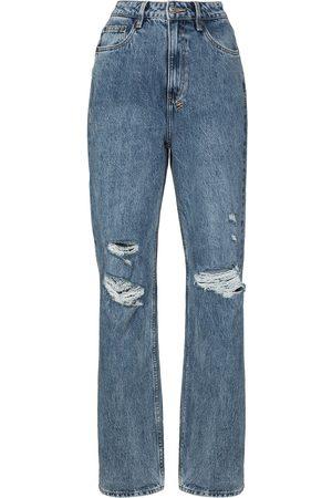 KSUBI Ripped detail straight-leg jeans