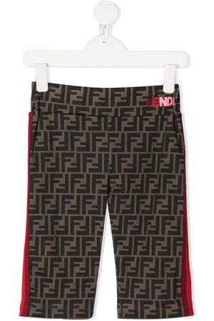 Fendi Girls Shorts - Zucca print stripe shorts