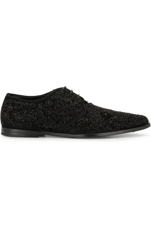 Dolce & Gabbana Men Formal Shoes - Embroidered derby shoes - Metallic