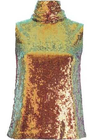 LAPOINTE Women High Necks - Sequin-embellished high neck top - Metallic