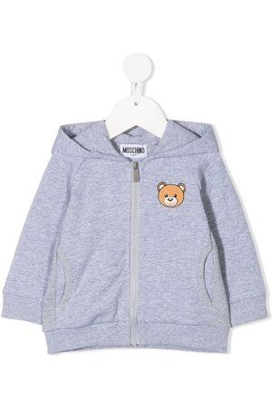 Moschino Teddy zipped hoodie - Grey