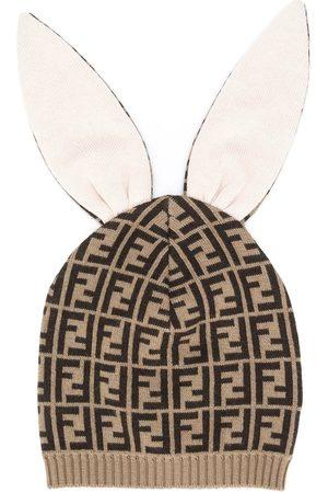 Fendi Hats - Double F jacquard bunny-ears hat