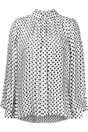 Msgm Polka-dot pleated shirt