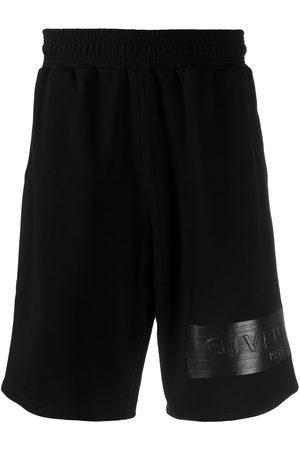 Givenchy Men Shorts - Logo patch sweat shorts