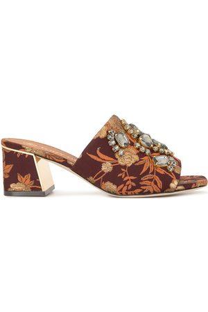 Tory Burch Women Heels - Martine jacquard block-heel mules