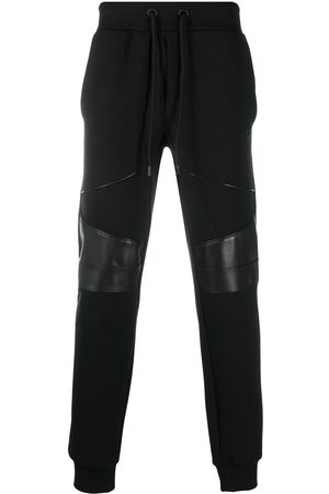 Philipp Plein Men Sweatpants - Knee-patch jogging trousers