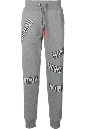 Philipp Plein Men Sweatpants - Grey logo track pants