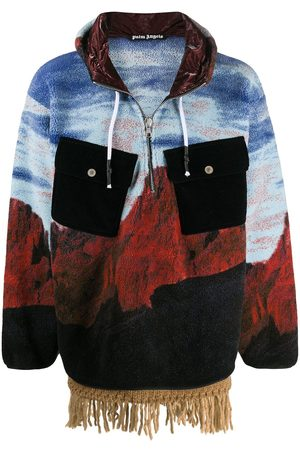 Palm Angels Men Hoodies - Canyon Pile hooded jacket