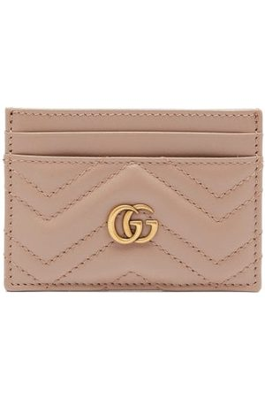 Gucci GG Marmont Leather Cardholder - Womens - Nude