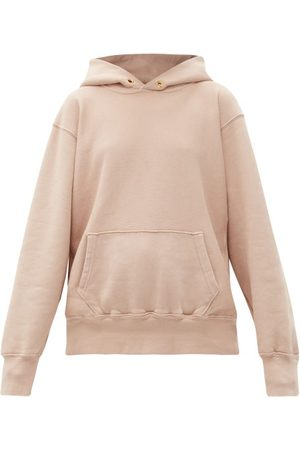 Les Tien Brushed-back Cotton Hooded Sweatshirt - Womens - Light