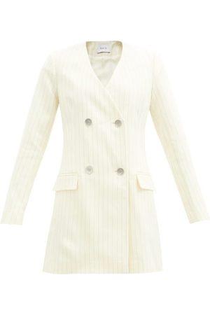 RACIL Women Blazers - Laura Pinstriped Wool-blend Blazer Dress - Womens - Ivory