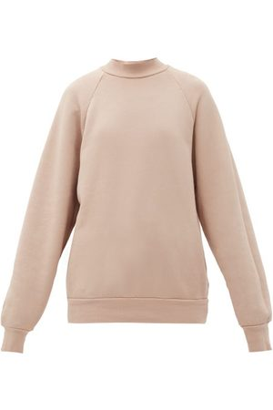 Les Tien High-neck Brushed-back Cotton Sweatshirt - Womens - Light