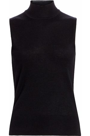 Saks Fifth Avenue Women's COLLECTION Sleeeveless Mockneck Cashmere Knit - - Size XS