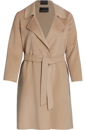 Persona by Marina Rinaldi Women's Trousse Double Wool Wrap Coat - - Size 16 W