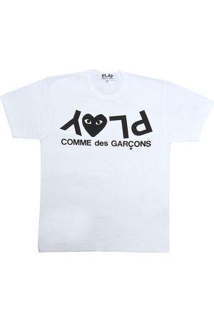 Comme des Garçons Women's Play Logo T-Shirt - - Size Large