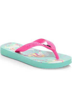 Havaianas Girl's Unicorn Flip Flops - - Size 11 (Child)