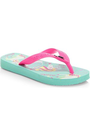 Havaianas Girl's Unicorn Flip Flops - - Size 27 EU (11 Child US)
