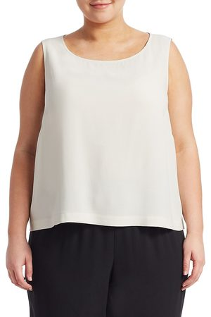 Eileen Fisher Women's System Silk Georgette Boxy Shell - - Size 3X (22-24)