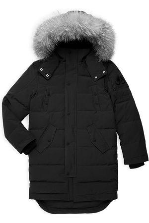 Moose Knuckles Little Kid's & Kid's Fox Fur-Trim Down Parka - - Size Large (14-16)