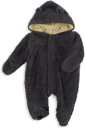 Magnetic Me Baby's Fleece Hooded Footie - - Size 3-6 Months