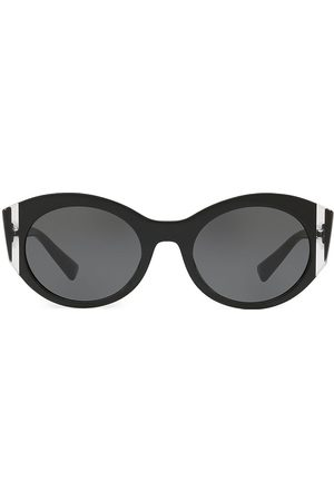 VALENTINO Women's VA4039 Solid Black 53MM Round Sunglasses