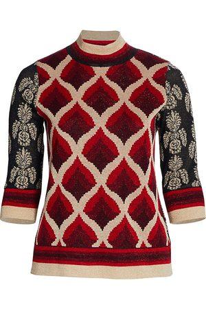 Persona by Marina Rinaldi Women's Audrey Jacquard Sweater - - Size XXL
