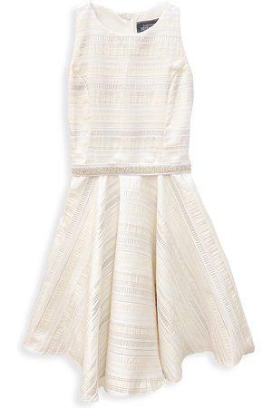 Un Deux Trois Girl's Jacquard Racer Dress - - Size 14