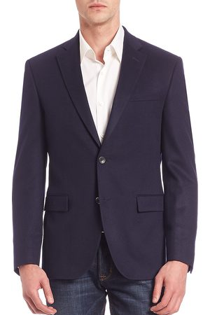 Saks Fifth Avenue Men's COLLECTION Solid Cashmere Blazer - - Size 42 S