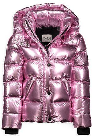 SAM. Little Girl's Sam Metallic Puffer Jacket - - Size 2